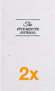 2 x The Five Minute Journal (Pakettihinta)
